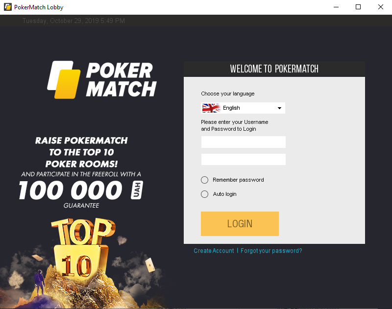 pokermatch installation