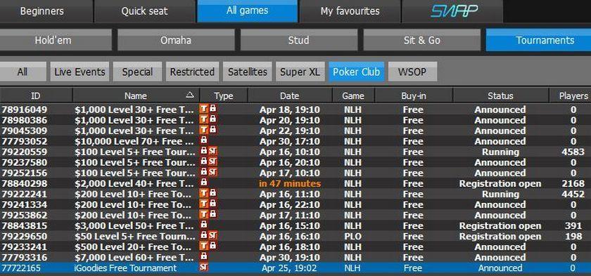 888 tournaments