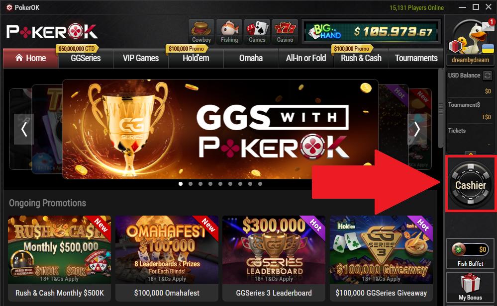 PokerOk Cashier