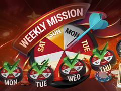 Weekly Mission promotion at BestPoker