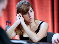 Kristen Bicknell played at two final tables on PartyPoker