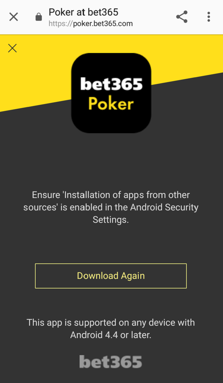 Bet365 Poker on Android