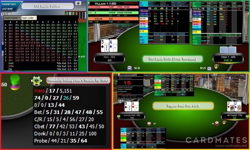 HUD для HU Покер Трекер