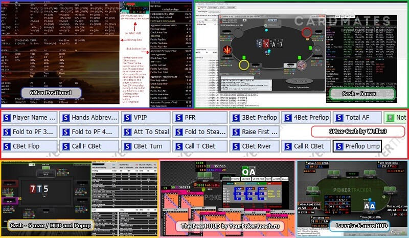 Хади для 6 max Покер Трекер