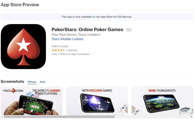 PokerStars iOS