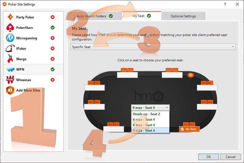 Poker Site Settings