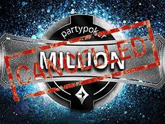 Partypoker MILLION пришлось отменить во время игры