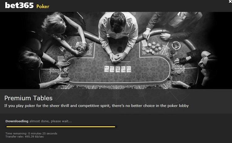 Bet365 Poker downloading
