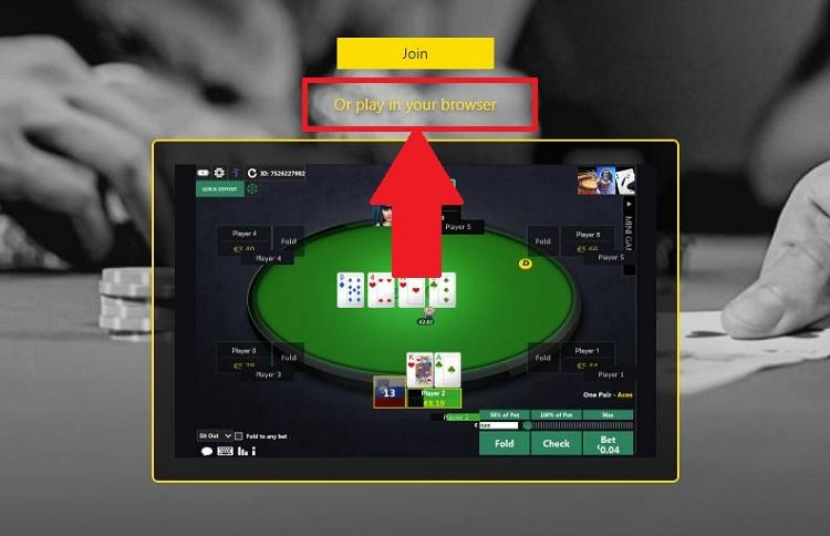 Bet365 Poker in browser
