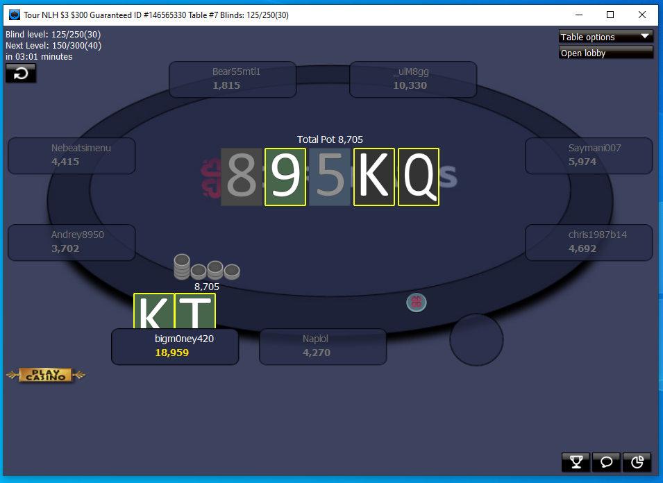 888poker layout 2020