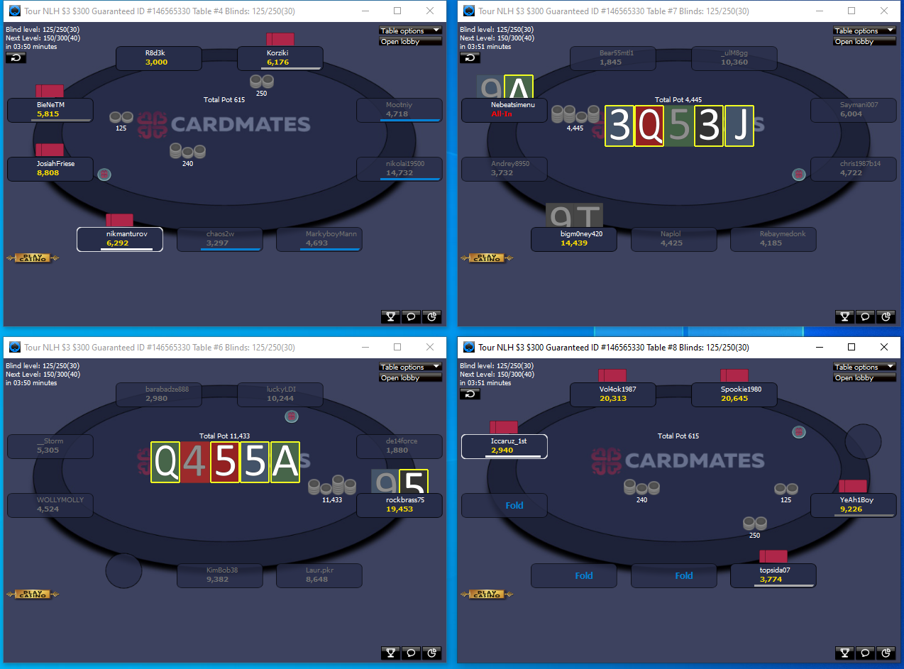 Layouts 888poker for multi-table