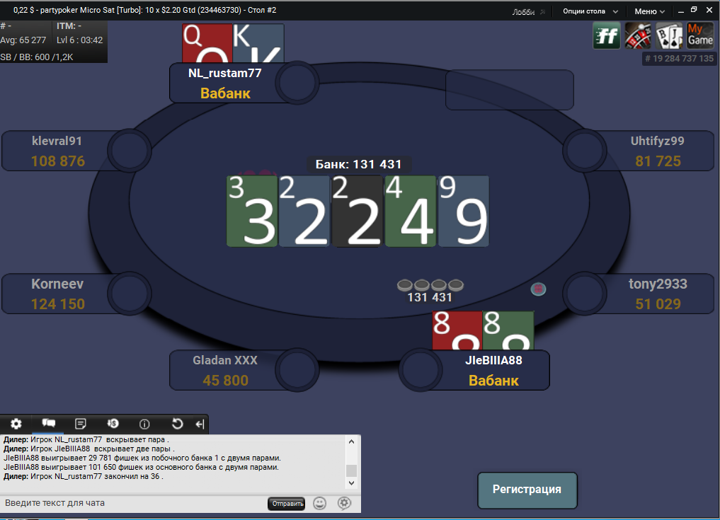 Layouts PartyPoker 2020