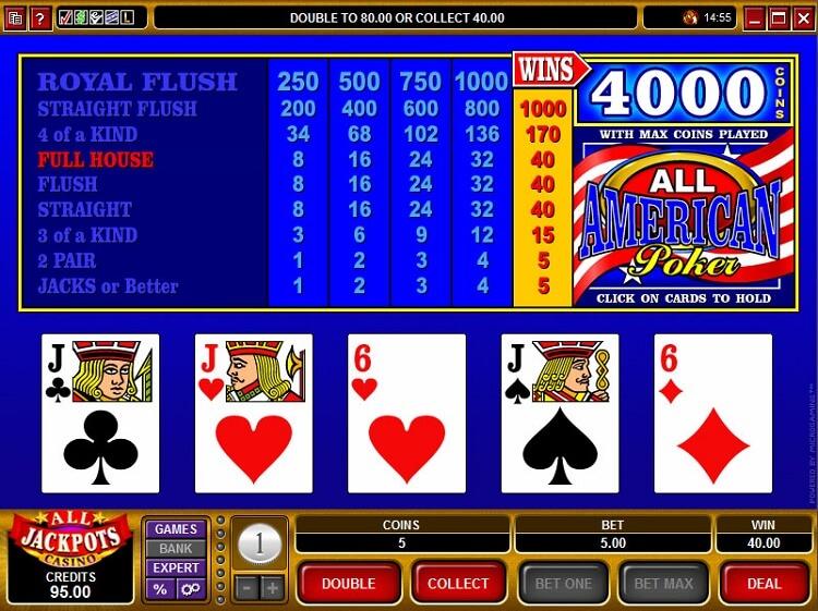 Американський покер слот-машина