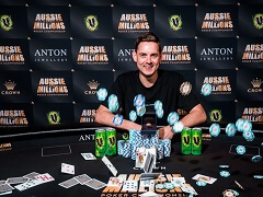 Toby Lewis finished first at AU$50 000 Aussie Millions Challenge