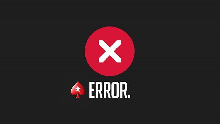 Технические ошибки PokerStars