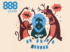 888poker will conduct the series of rakeless tournaments