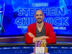 US Poker Open: Стивен Чидвик выиграл первое место в турнире за 10 000$