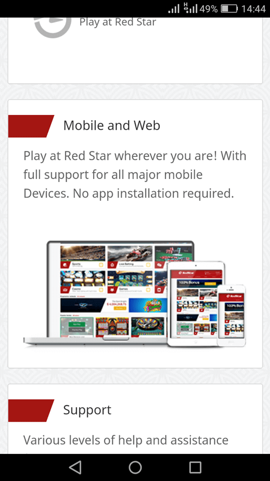 RedStar mobile app