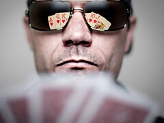 How did bluff appear in poker