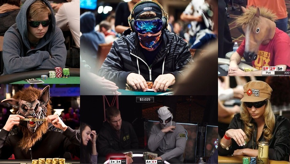 poker players wear masks