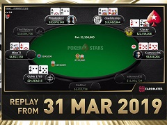 Sunday Million Replay от 31.03.2019