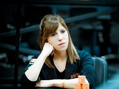 Kristen Bicknell finished third in the Merit Poker Classic ME
