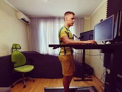 Новое рабочее место Михаила Шаламова