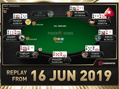 Sunday Million Replay of 16.06.2019