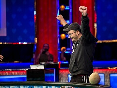 Greek player rose from one blind in 4-max and won the WSOP bracelet
