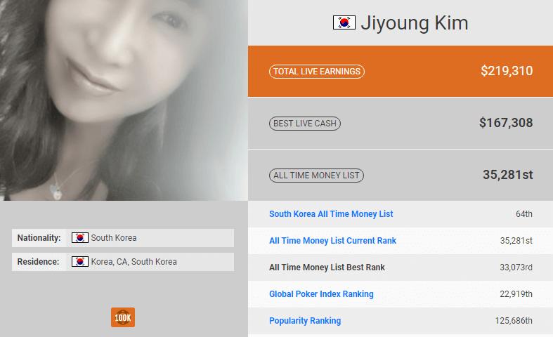Jiyoung Kim poker