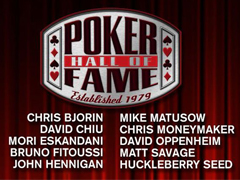 The list of potential candidates for Poker Hall of Fame is known