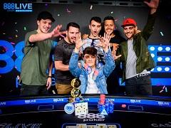 Итальянец празднует победу в Мейн Ивенте 888poker live