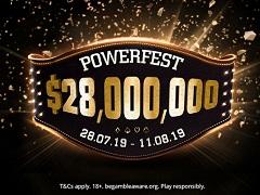 На PartyPoker пройдет серия PowerFest с гарантией 28 000 000$