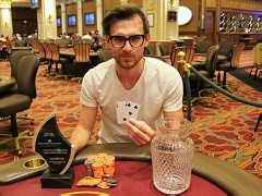 Andrey Pateychuk is a winner of CPPT Venetian DeepStack Championship Poker Series Main Event