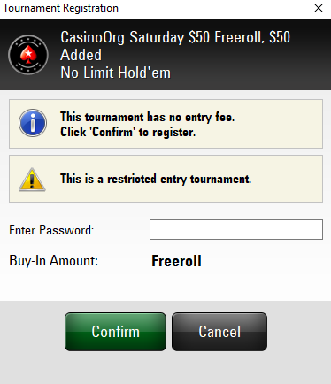 Some Freeroll Passwords