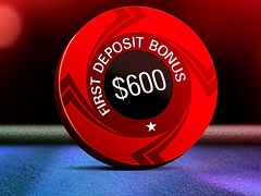 PokerStars: 100% first deposit bonus up to $600