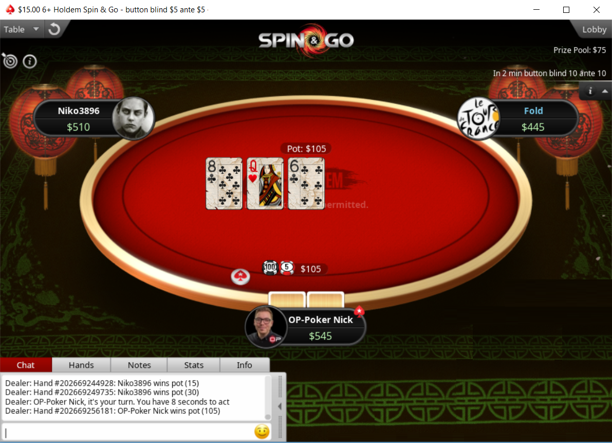 PokerStars Spin & Go 6+ Hold'em