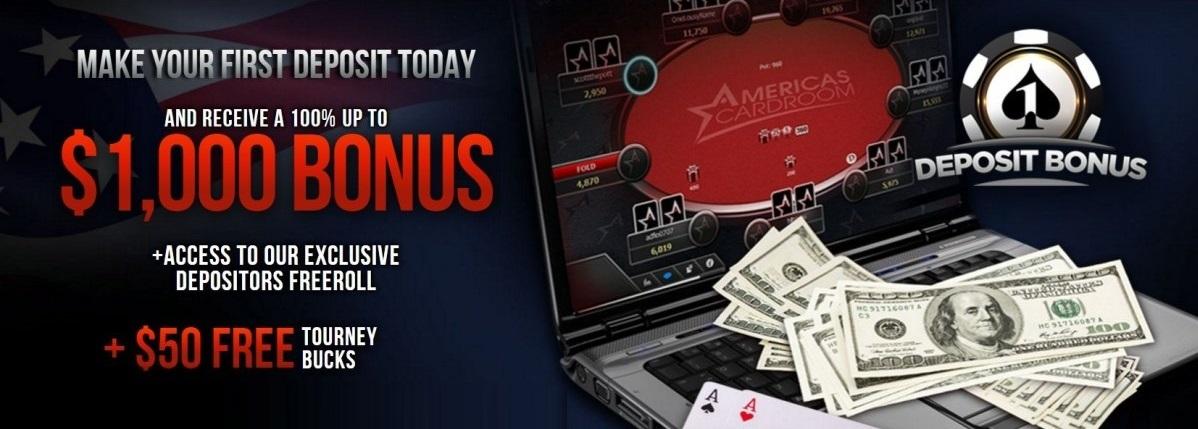 Americas Cardroom bonus 2019