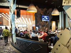 The first Partypoker Millions tournament in Las Vegas