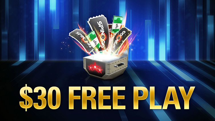 Free $30 on PokerStars
