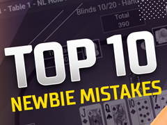 10 common mistakes of new poker players