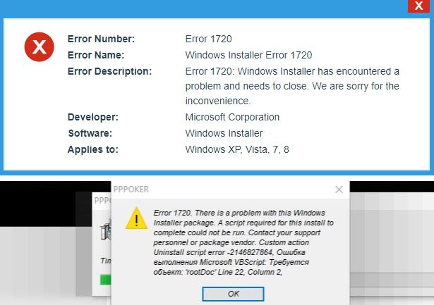 Imágenes de Error 1720 Windows Installer Package Windows 7