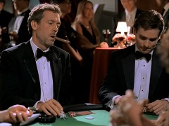 Typical poker in movies