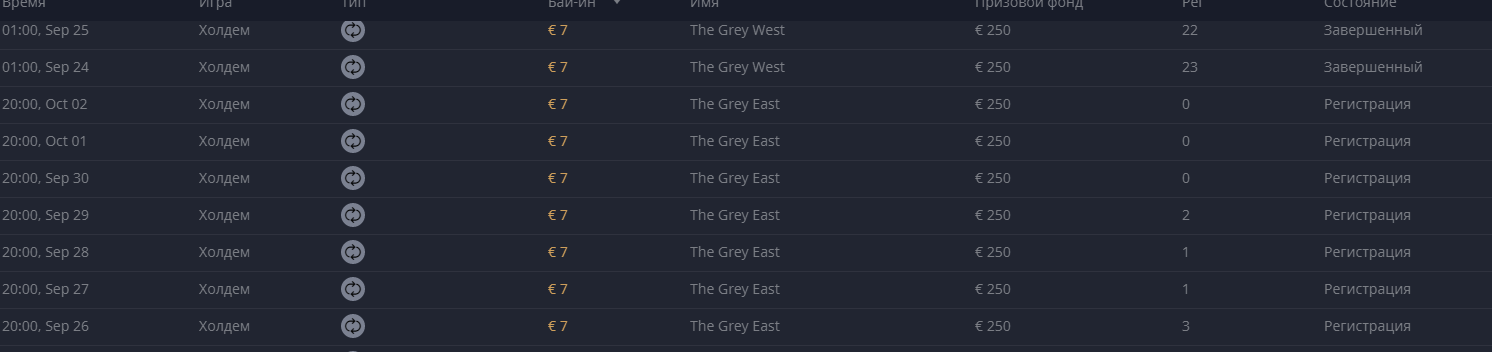 Grey Snow Poker 2019