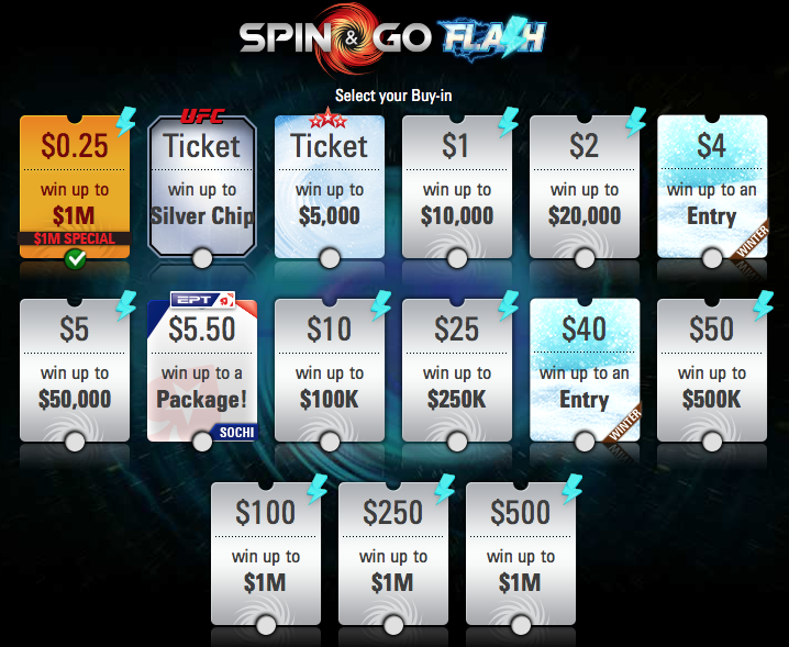 Spin & Go Flash at PokerStars