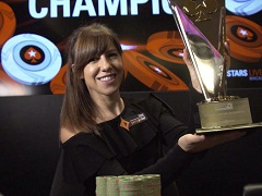 Kristen Bicknell became the best female poker player for the third year in a row