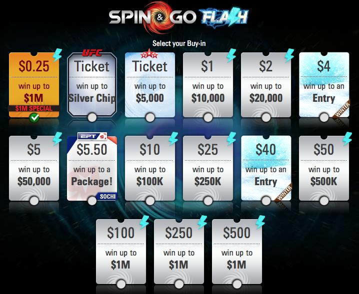 PokerStars в Spin & Go Flash