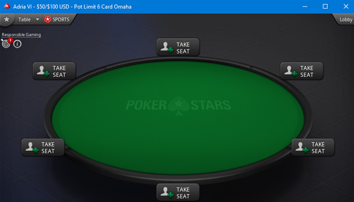 6-card Omaha at PokerStars