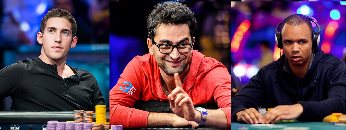 Daniel Colman, Phil Ivey and Antonio Esfandiari