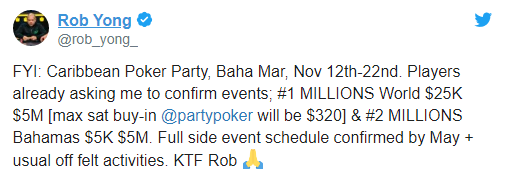 Tweet of Rob Yong